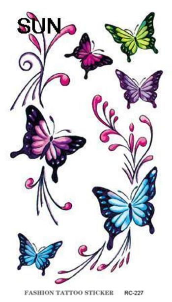 Sex Product Colorful Butterfly Design Tattoo Sticker Waterproof Temporary Tattoos Body Art Beauty Products Water Transfer Tattoo-in Temporary Tattoos from Health & Beauty on Aliexpress.com | Alibaba Group