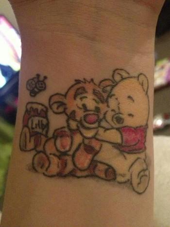 Winnie The Pooh & Tigger Tattoo