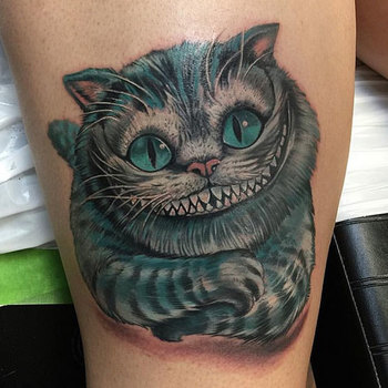 22 Awesome Cheshire Cat Tattoos | Catster