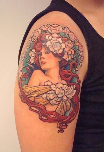 mucha tattoo - love it! - cute-tattoo