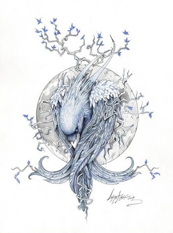 """""""The Raven"""" by Lorena Assisi, via Behance"""