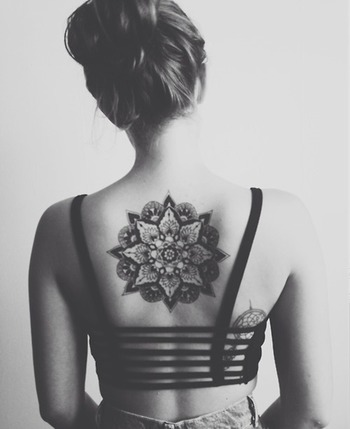 28 Amazing Back Mandala Tattoos for Women and Girls