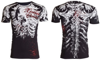 Xtreme Couture AFFLICTION Men T-Shirt PERSIMMON Skull Tattoo Biker UFC M-4XL $40 #Affliction #Graphic