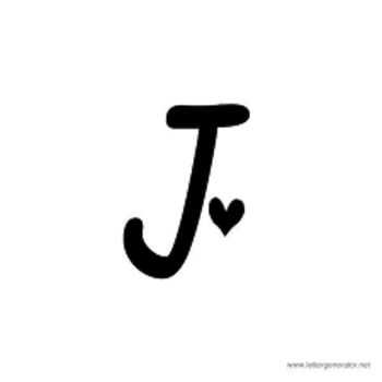 Image result for letter j tattoo