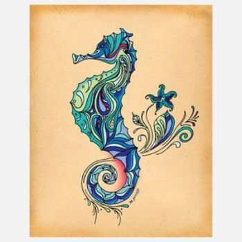 I liked this design on #Fab. Seahorse