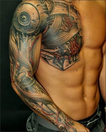 That's one of the best tattoos I think I've ever seen, the canvas is definitely high quality, too