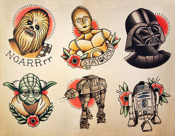 Single flash sheet now available at Parlor Tattoo Prints :)