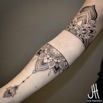 8 Beautiful & Intricate Half Mandala Tattoos | Tattoodo.com