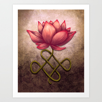 Lotus Flower Art Print by Britany Derr   Society6