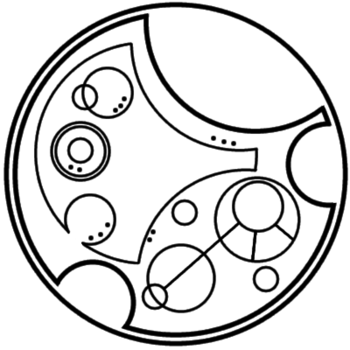 """I am sherlocked"" written in circular Gallifreyan... This is the best :')"
