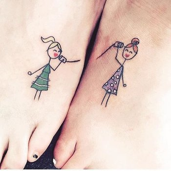 54 Sister Tattoos That Prove She's Your Best Friend in the World