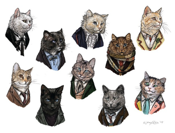 glabalaba: This combines two of my favourite things. Cats. And Doctor Who :3 Credit belongs to: http: