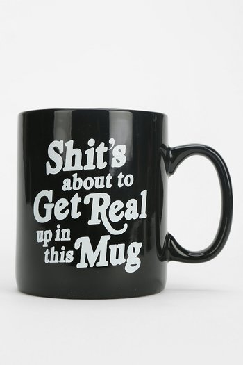About To Get Real Mug - Urban Outfitters