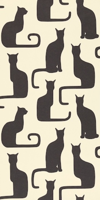 Sanderson Omega Cats were adapted from a 1930s textile by Swedish designer, Victor Lindstrand. I am a