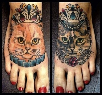 Unusual Amazing Cat Tattoos (19)