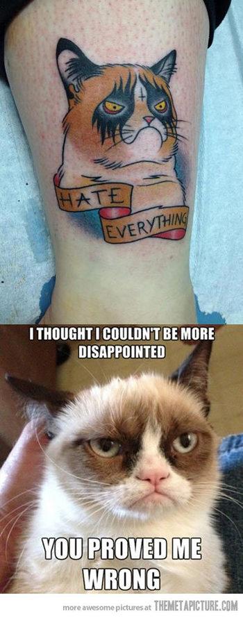 Grumpy Tattoo... - The Meta Picture
