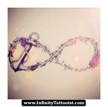 Infinity and anchor tattoo
