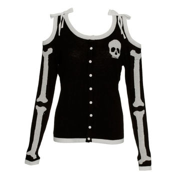 Too Fast skeleton sweater Size: S Price: Starting... - Cheap Ass Goth