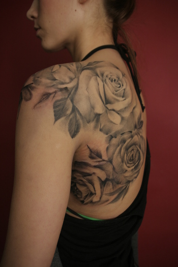 Not that I would get a tattoo, but this illustrates the beauty of the rose's natural form and shape