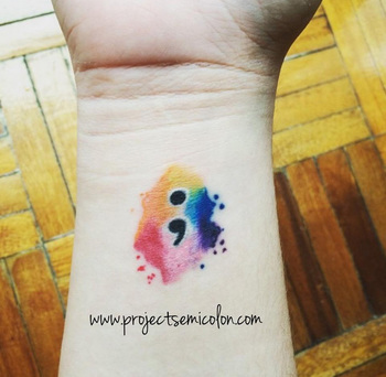 If You See Someone With A Semicolon Tattoo, This Is What It Really Means