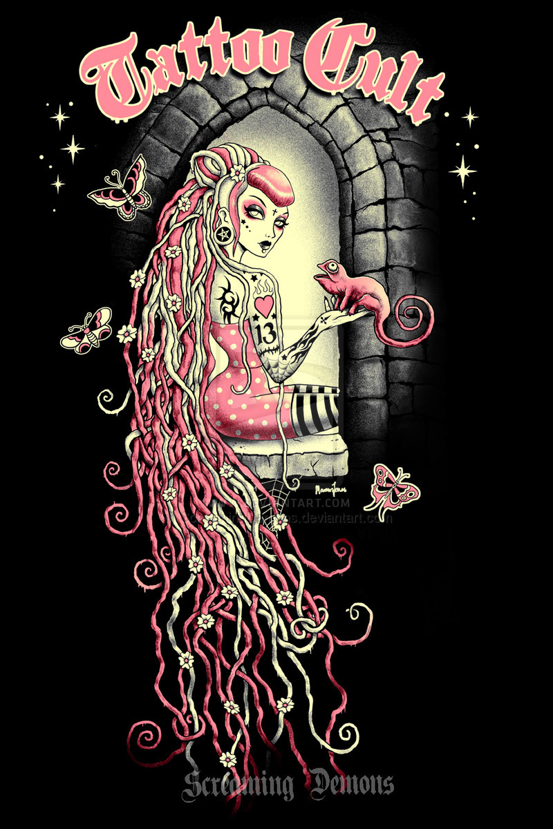 Tattoo cult 11 rapunzel by screamingdemons on deviantart original