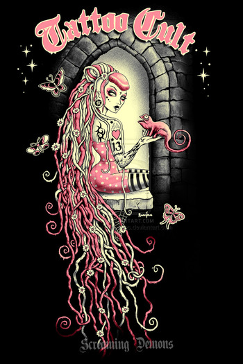 Tattoo Cult 11. Rapunzel by ScreamingDemons on deviantART
