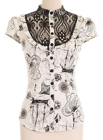 Deep Sea Odyssey Victorian Shirt