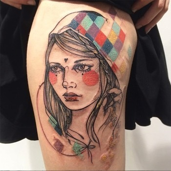 Germany Graphic Tattoo Artist Anki Michler
