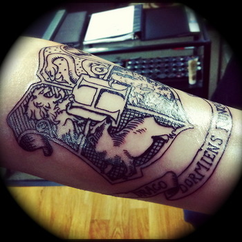 """Tattoo done by Erica Mattson at Thor's Hammer and Needle in Poulsbo, WA (alreadyseenalreadyheard.tum"