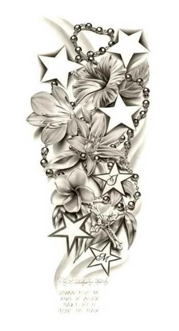 Half Sleeve Tattoo Drawings for women -
