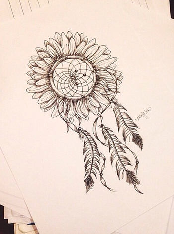 I want this just like this but have the feathers be more full and have one of the outer feathers unfo