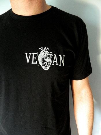 Vegan Heart / Black Men's Unisex tshirt by VeganPolice on Etsy, $22.00
