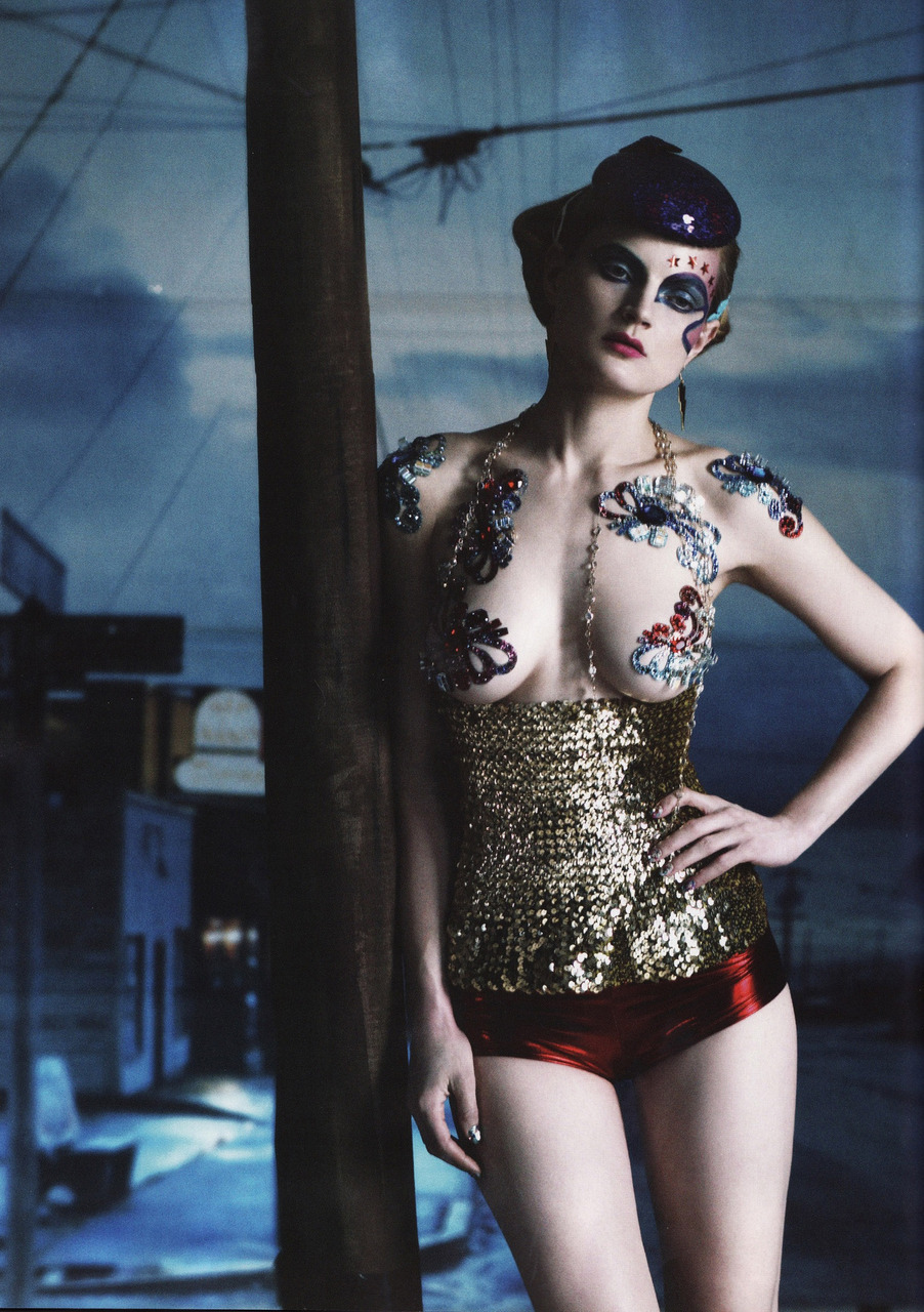 Guinevere van seenus by paolo roversi vogue uk fashion editorial tattoo sparkle circus vi original