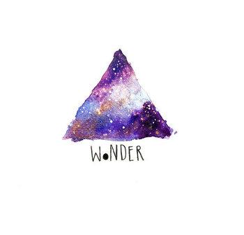 Wonder Illustration Print, Nebula Art, Modern Art, Triangle Art, Triangle Print, Watercolor Painting,