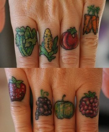 HAHA this is someones vegan tattoo. I just thought it was funny and kinda over the top.