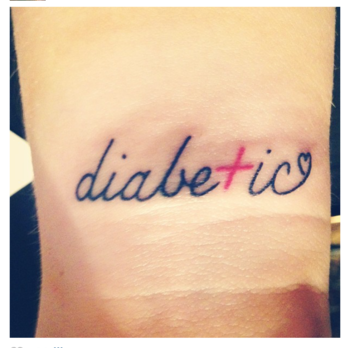 PLEASE GIVE CREDIT! Thx :) This IS MY, Yvonne's, actual tattoo :) #diabetes #diabetesawareness #diabe