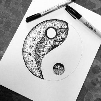 Tattoo Ideas - Geometric yin-yang (Best Tattoos)