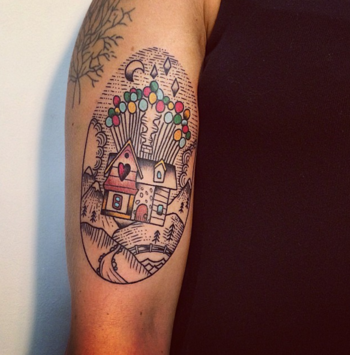 Adventure Is Out There: Up Balloon House Tattoos   Tattoodo.com