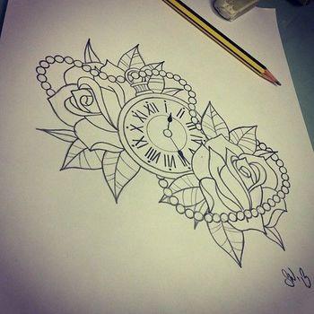 tattoo clock - Hledat Googlem