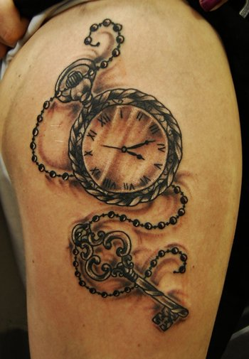 Pocket Watch and clock Tattoos – Designs and Ideas