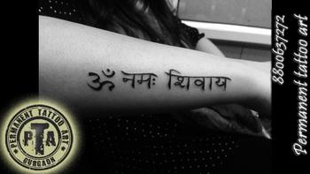 om namah shivaya tattoo AT- Permanent tattoo art, Gurgaon http://www.permanenttattooart.com/ https://