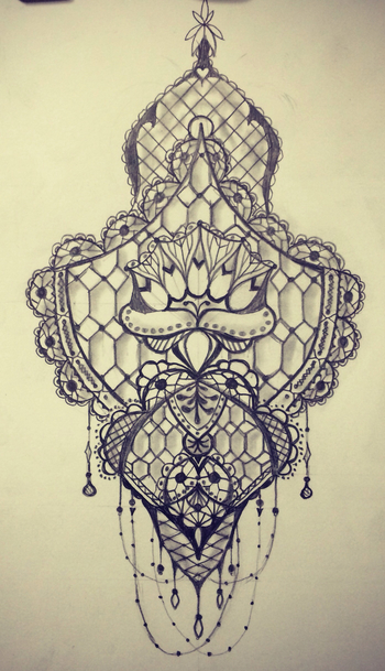Lace tattoo sketch / art / drawing by - Ranz