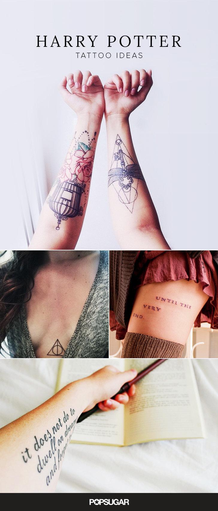 Harry potter tattoos that would make j k rowling proud original