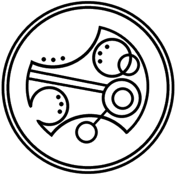 """Timelord"" written in circular Gallifreyan"