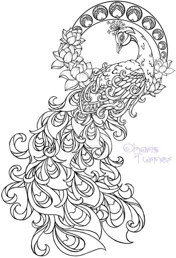 Art Nouveau Peacock Tattoo by Metacharis on deviantART