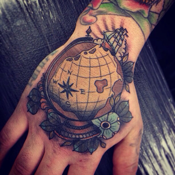 Top of hand tattoo!! I love the