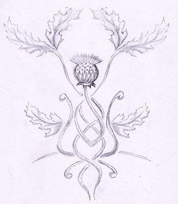 tattoo thistle by rainingcrow on deviantART