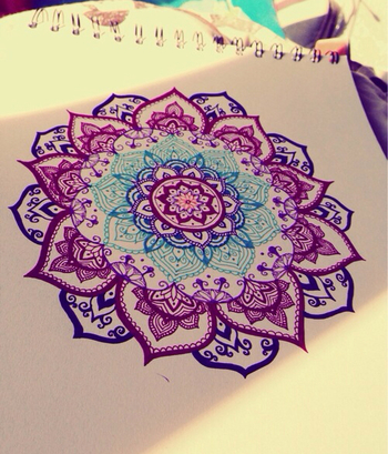 Mandalas have been used in Eastern traditions as a way to help promote concentration and the revealin