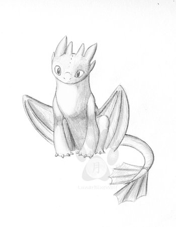 Toothless sketch by LunarBlueWolf on deviantART