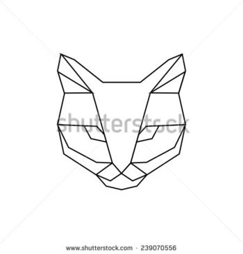 Geometric Cat Stock Photos, Images, & Pictures